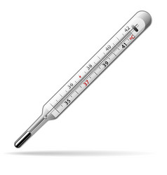 Thermometer medical a glass mercury thermometer vector
