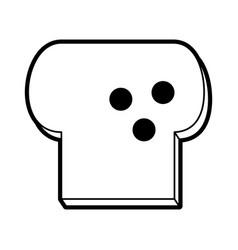 toast vector image