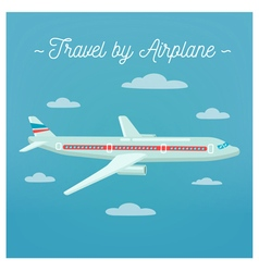 Travel Banner Tourism Industry Airplane vector image