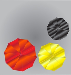 Umbrellas from Top View vector image