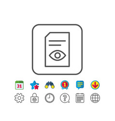View document line icon open file sign vector