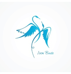 Abstract icon swans vector image vector image