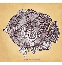 Decorative fish vector image