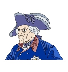 Frederick the Great vector image vector image