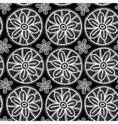 Lace seamless pattern with flowers and leaves vector image