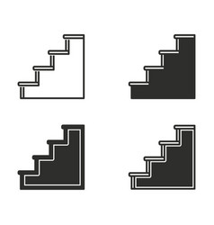 ladder icon set vector image