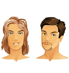 male portrait vector image