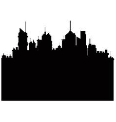 pictogram city landscape building skyscraper vector image