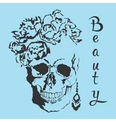 skull Beauty style vector image vector image