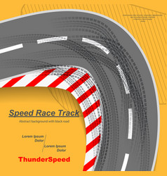 Speed road with tire tracks vector