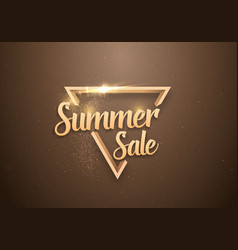 Summer sale banner lettering template vector