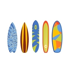 surfing boards vector image vector image