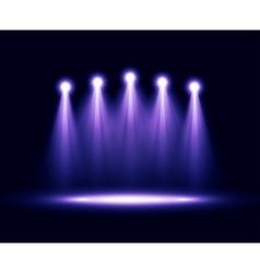 Five realistic spotlights lighting vector image