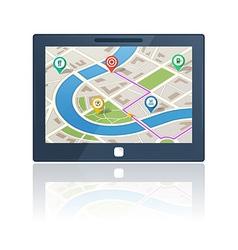 gps navigation device vector image