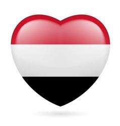 Heart icon of Yemen vector image
