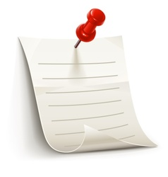 sheet of paper for notes vector image