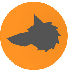 head wolf sign - vector image vector image