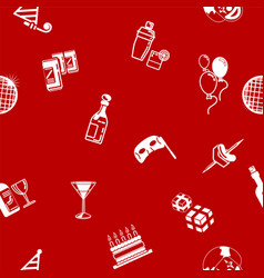 seamless party background texture vector image