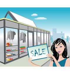 shop sale vector image vector image