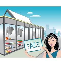 shop sale vector image vector image