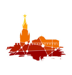spasskaya tower of kremlin in moscow vector image vector image