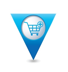 add to basket BLUE triangular map pointer vector image vector image