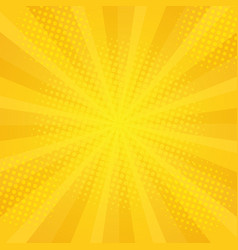 comics rays background with halftones vector image vector image