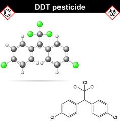 DDT molecules vector image vector image