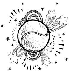 doodle pop tennis vector image