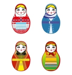 Nested dolls set Matryoshka with different vector image