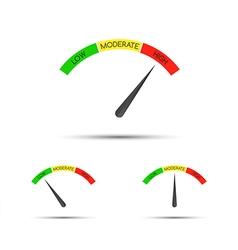 Set of simple tachometer with descriptions vector