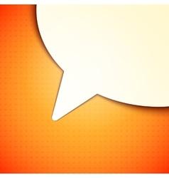 Talk Bubble Background vector image vector image