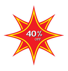 40 off discount price tag abstract price tag vector
