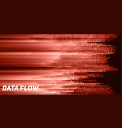 Abstract big data visualization red vector