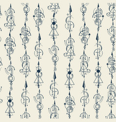 Abstract seamless pattern arrows vector