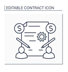 Acceptance line icon vector
