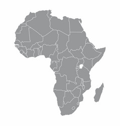 Africa gray map vector