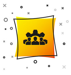 black project team base icon isolated on white vector image