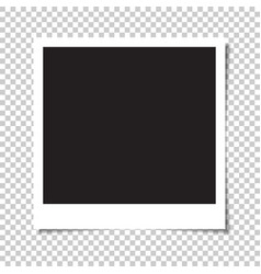 blank square photo with shadow vector image