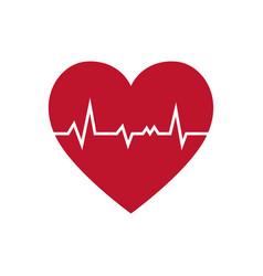 Cardio heart icon vector