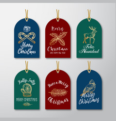 christmas and new year ready-to-use glitter gift vector image