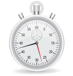 Clock watch metallic on white background vector