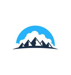 Cloud mountain logo icon design vector
