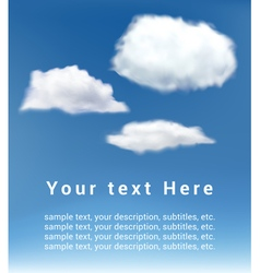 clouds on blue sky vector image