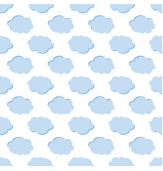 clouds weather seamless pattern background vector image