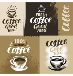 Coffee for design menu vector