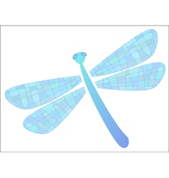 Colored dragonfly in format vector