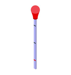 Covid19 test stick icon isometric style vector