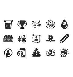 Developers chat winner and smile icons set vector