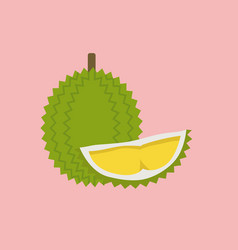 Durian in flat style vector